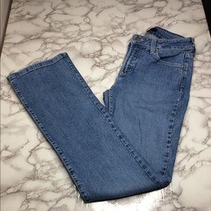 NYDJ rhinestone embellished straight leg jeans